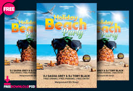 Free Holiday Beach Party Flyer Psd Freedownloadpsd Com