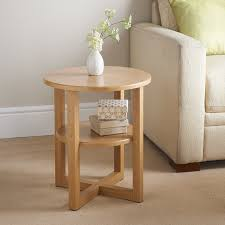 amazing small side table milton furniture 315373 oak finish with storage round white bedside