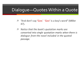 Quotes within quotes
