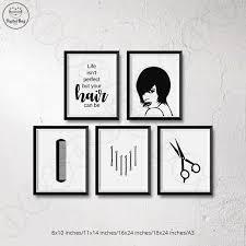 salon wall art hair salon decor digital