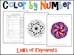 Laws of Exponents Color by Number by charlotte_james615 - Teaching ...