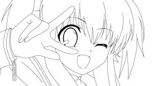 Happy Anime Girl Anime Drawings Pinterest Coloring Pages