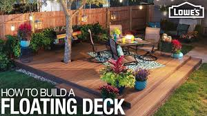 Floating Deck Designs How To Build A Floating Deck