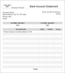 Template Of Statement 6 Free Statement Of Account Templates Word Excel Sheet Pdf