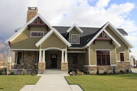 pictures of stone exterior on homes. mid-sized arts and crafts two-story exterior home photo in salt lake city pictures of stone on homes