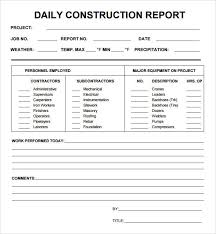 Construction Daily Report Template Excel Filename Guatemalago