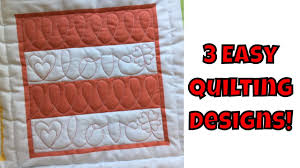 Free Printable Machine Quilting Designs Three Easy Machine Quilting Designs Beginner Quilting Tutorial With Leah Day