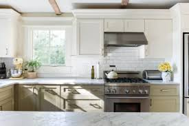 Kitchen cabinet pictures Wood image Credit Minette Hand Pinterest Kitchen Cabinet Painting Two Tone Ideas Kitchn