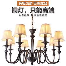 get ations jue high black living room full copper chandelier american country european retro copper lamps bedroom villa