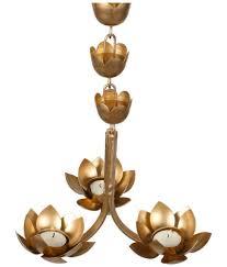 yashasvi hanging tealight holder set tea light holder gold
