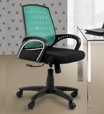 um back ergonomic chair in black green colour add to cart