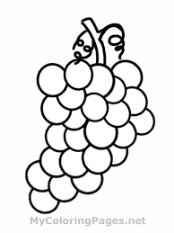 Small Picture Grapes Coloring Page With Grape With glumme