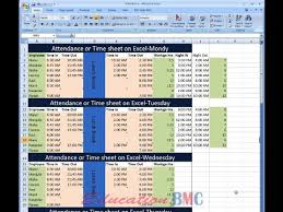 Sheet Time Excel Attendance And Time Sheet For Employees 1 In Tamil By M M Y