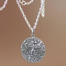 men s handmade sterling silver necklace inspiration tree