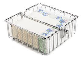 fox run chrome wire square paper napkin holder kitchen bathroom