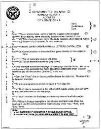 correspondence template standard naval letter template barca fontanacountryinn com