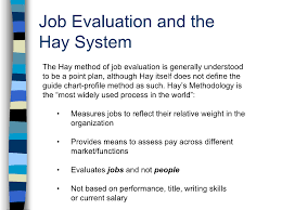 Hay System Of Job Evaluation