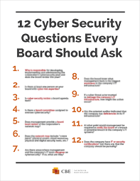 how cyber security works cyber security for boards