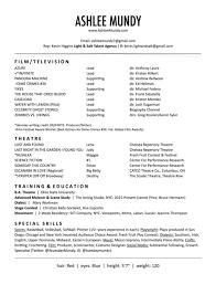 Resume Ashlee Mundy Magnificent Resume Pandora