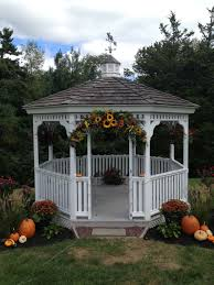 Gazebos decorating ideas Diy Decorated Gazebo For Fall Wedding From The Garden Path Home Design And Furniture Ideas Decorated Gazebo For Fall Wedding From The Garden Path Wedding