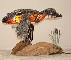 woody woody stained glass lamp sculpture