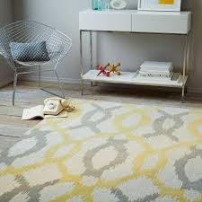 awesome yellow and grey rug ikat link wool for nursery ikea next canada dunelm runner