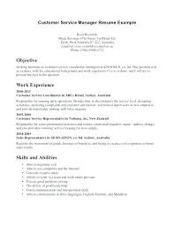 Resume Objective Statements Customer Service Opening Statement For ...