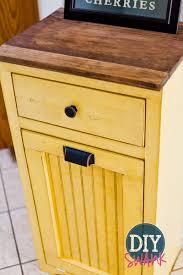 Kitchen Cabinet Garbage Drawer Diy Tilt Out Trash Bin Trash Bins Cabinets And Diy And Crafts