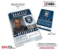 Police Detective Department - Seattle Epic 'izombie' Employe Homicide Ids Cosplay