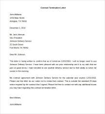 Example Letter Of Termination 9 Free Termination Agreement Templates Business Letter