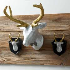 pj lrg 6200 1 on paper mache wall art diy with easy diy painted paper mache deer heads cathie filian steve piacenza