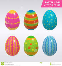 Pretty Egg Designs Vintage Easter Egg Design Set Stock Vector Illustration Of