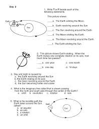 Image result for earth moon sun worksheets 3rd grade | Science ...