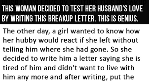 Breakup Letters Best Reaction To A Breakup Letter. This Is Genius.