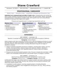 Resumes Creative Caregiver Objectives Resume Templates Examples For