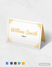 Place Card Printable Template 10 Free Place Card Templates Word Psd Indesign