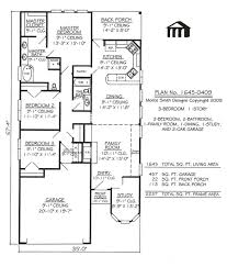 Small 3 Bedroom House Floor Plans Narrow Lot Apartments 3 Bedroom Story 3 Bedroom 2 Bathroom 1
