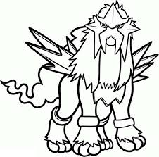 Small Picture Pokemon Coloring Pages Entei Coloring Pages