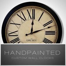 large wall clock hand painted clock