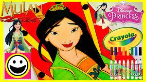 Disney Princess Mulan Crayola Color By Number Princess Coloring