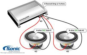 subwoofer wiring diagrams sonic electronix 2 chan amp see diagram