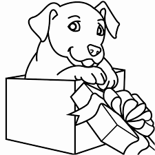 Germany Christmas Coloring Pages Printable Dogs Glamorous Baby Dog
