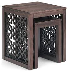 inch wide square 2 pc nesting table
