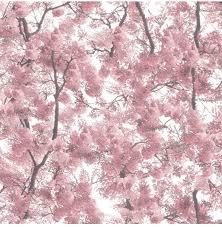 Bolcom Home Boomtakken Roze Behang Vliesbehang Roze