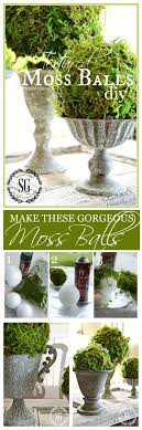 Decorating With Moss Balls TEXTURED MOSS BALL DIY StoneGable 45