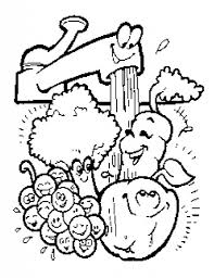 Small Picture Fruits And Vegetables Coloring Pages Contegricom