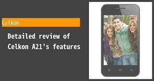 Celkon A21 Review