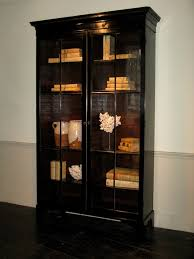 english antique display cabinet. 19th Cent English Ebonised Display Cabinet/ Bookcase Antique Cabinet Y