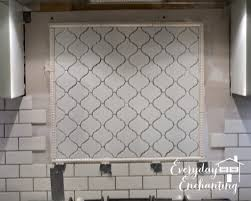 Diy Tile Backsplash Kitchen Arabesque Backsplash Accent