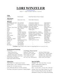 Dance Resume Format Resume For Audition Best S Of Sample Dance Resume Format Dance 17